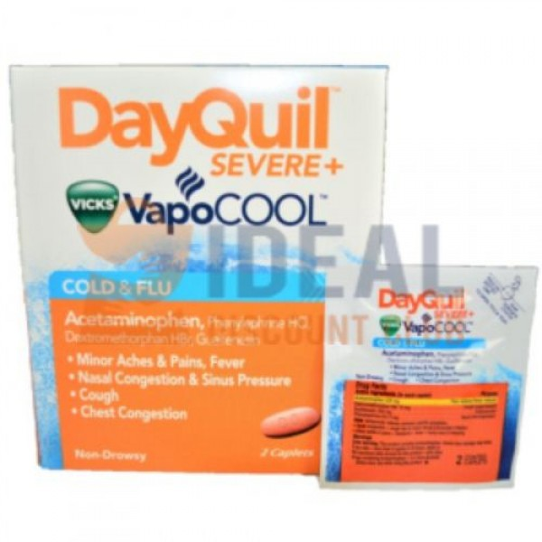 25 X 2'S DAYQUIL **SEVERE COLD & FLU** POUCH