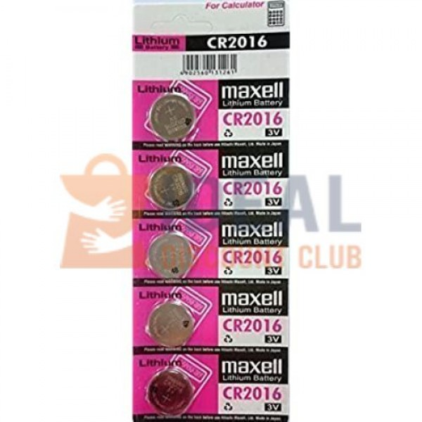 CR-2016 MAXELL/SONY/ENERGIZER LITHIUM BATTERY(5PCS/CARD)