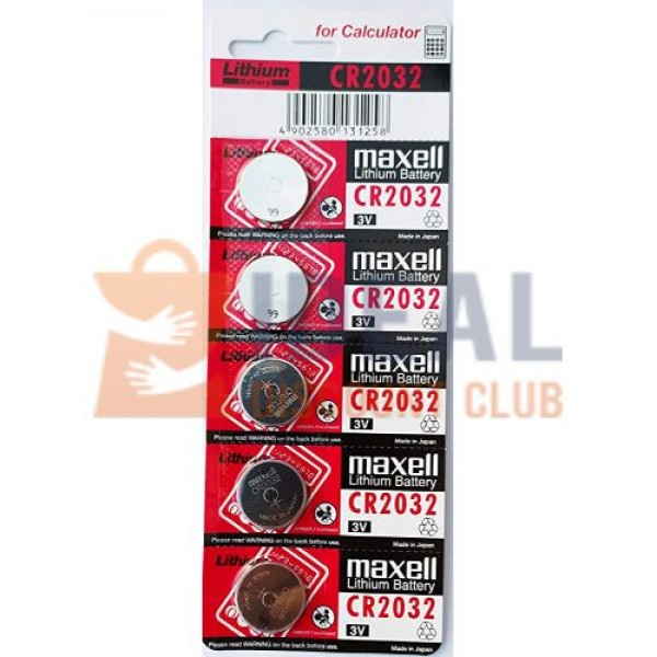 CR-2032 MAXELL/SONY/ENERGIZER LITHIUM BATTERY(5PCS/CARD)