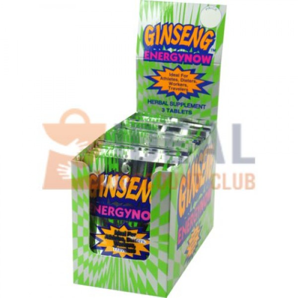 ENERGY NOW *GINSENG* 24CT/BX (GREEN BOX)