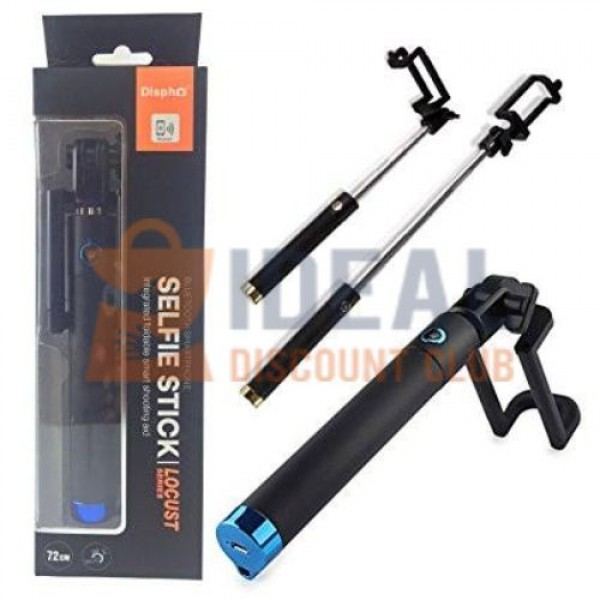 SELFIE STICK PRO *FOLDABLE* W/ WIRE AND BUTTON (Asstd Colors