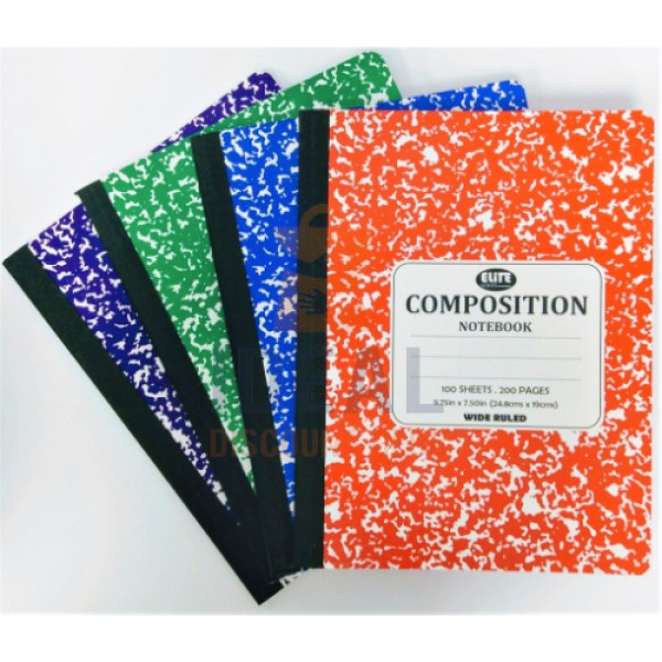 COMPBK MARBLE 100S ASST
