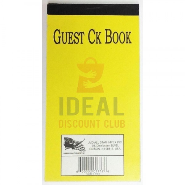 CHECK BOOK GUEST100PGS40)1717