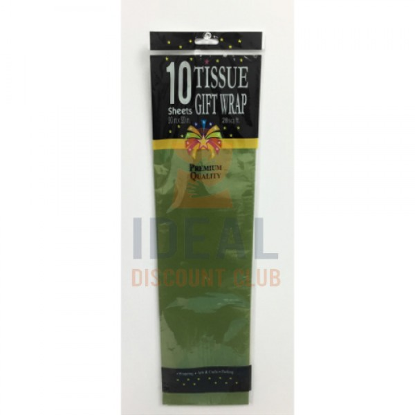 10CT MILITARY GREEN TISSUE PAPER
