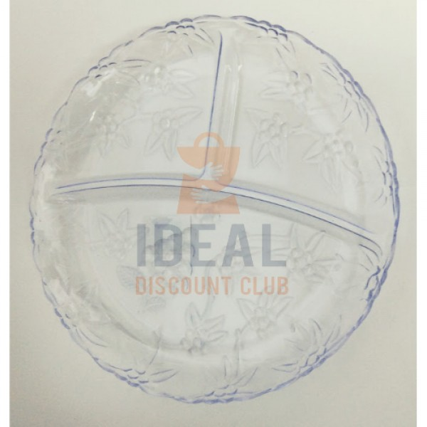 CLEAR HOME & KITCHEN TRAY 3-SECTION