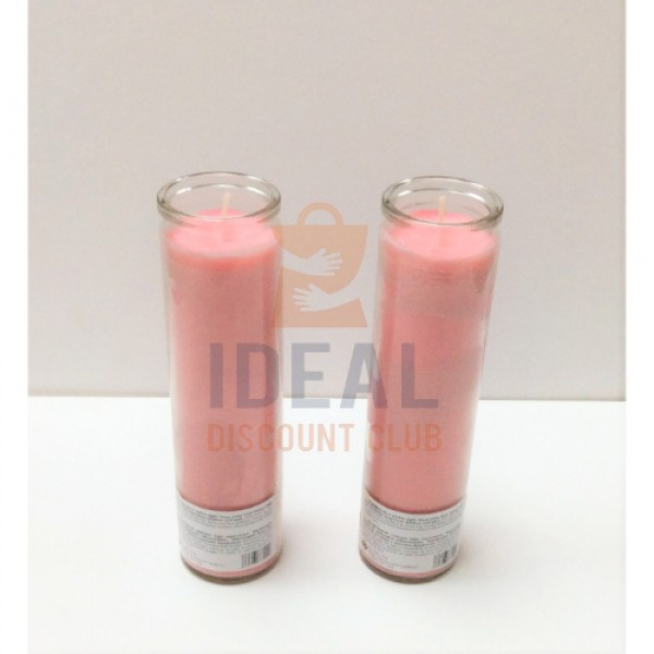 7 DAY CANDLE PINK