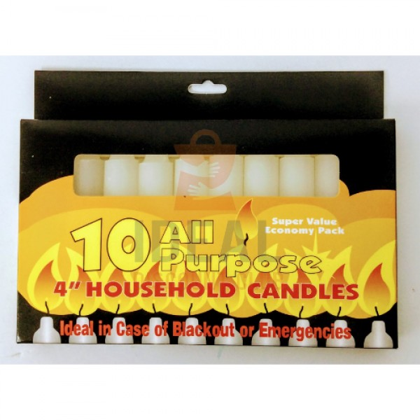 CANDLE 10 PK HOUS HOLD